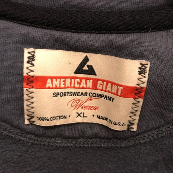American Giant Blue Zip Up