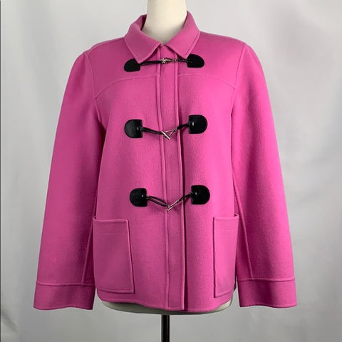 Pink Toggle Wool Jacket