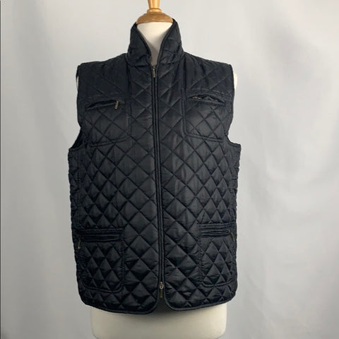 Chicos Black Quilted Vest