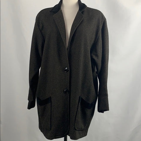 Flax Brown Tweed Wool Oversize Jacket