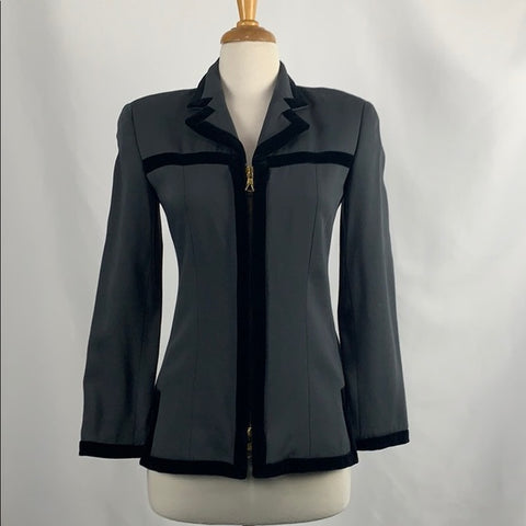 Emprio Armani Gray With Black Trim Vintage Jacket