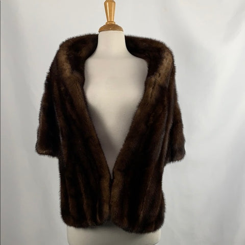 Vintage Brown Mink Stole