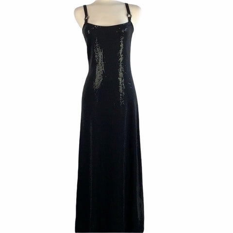 St Johns Black Sequin Evening Gown