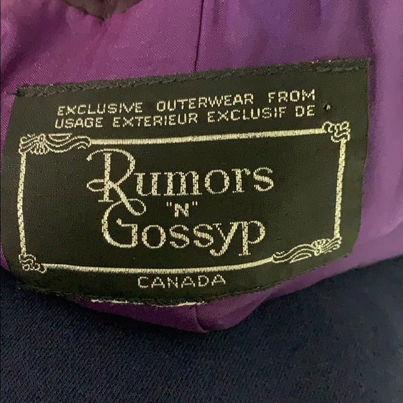 Rumors and Gossip Purple Leather Jacket