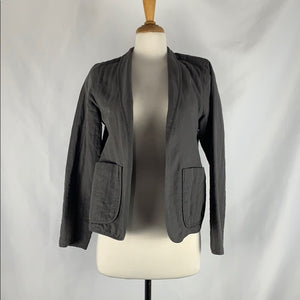 Eileen Fisher Grey Quilted Jackets with Pockets