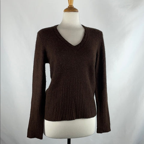 Maggie By Magaschoni Rusty Brown Cashmere Sweater