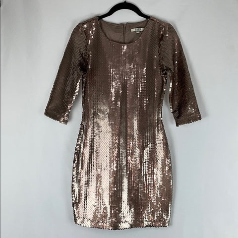 BB Dakota Gold Sequin Mini Dress