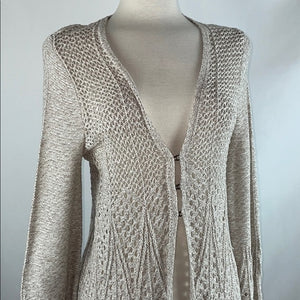 Knitted & Knotted Tan Knit Cardigan