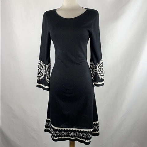 Madison Leigh Black Bell Sleeve Sweater Dress