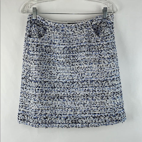 W By Worth Blue Sparkle Tweed Skirt