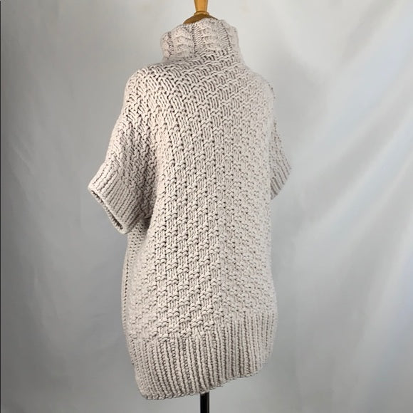 Cream Cross Stitch Chunky Mockneck