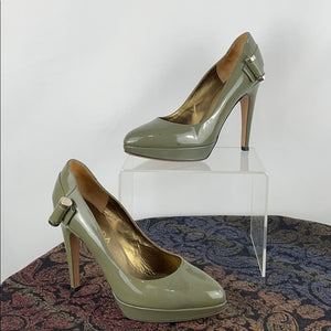 Escada Green Patent Pumps