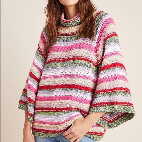 Anthropologie Chunky Knit Striped