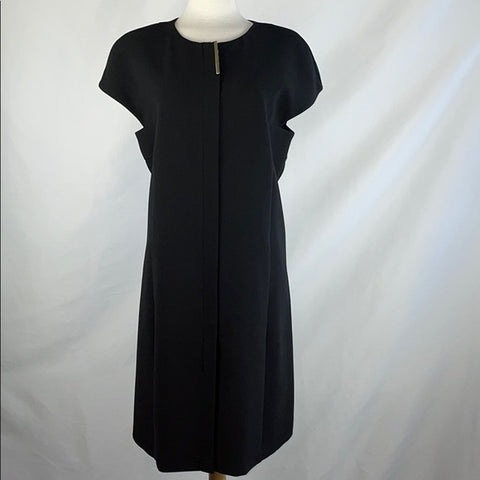 Rachel Roy Cap Sleeve Full Zip Black Dress