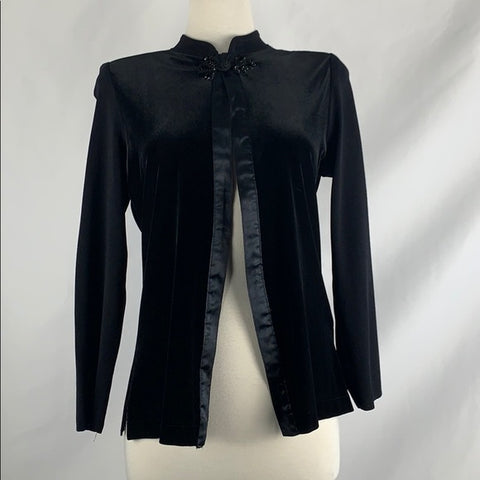 Velvet Misook Cardigan Top and with Ribbon Trim