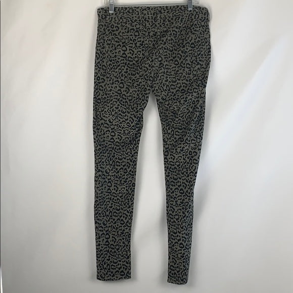 Madewell Gray Cord Animal Print