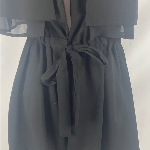 Anthropologie Black Vest with Belted Waist
