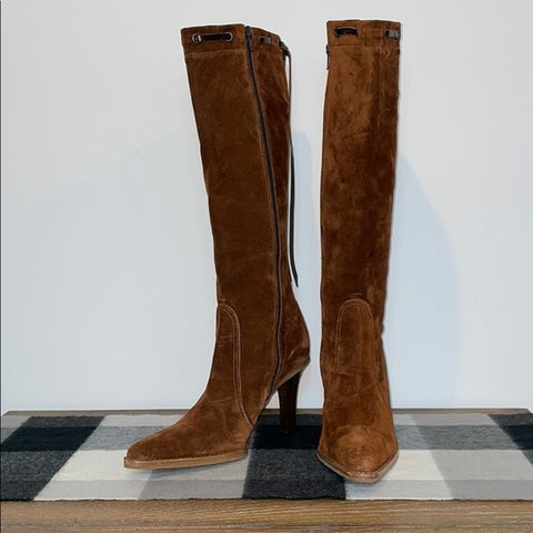 Coach Brown Suede Bell Boots