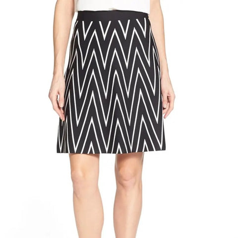 Pink Tartan Black and White A-Line Knit