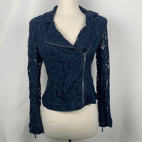 INC Blue Lace Jacket