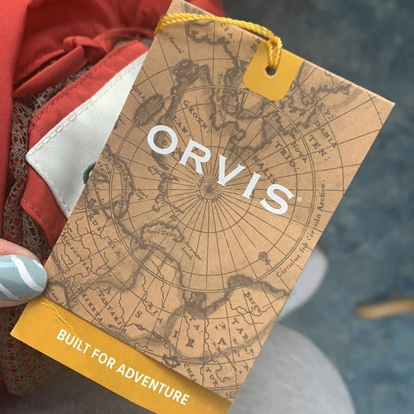 NEW Orvis Rust 3/4 Nylon Jacket Pack and Go