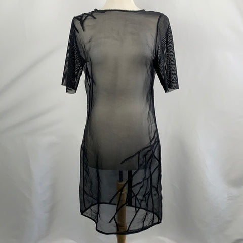 NEW Elie Tahari Black Sheer Dress