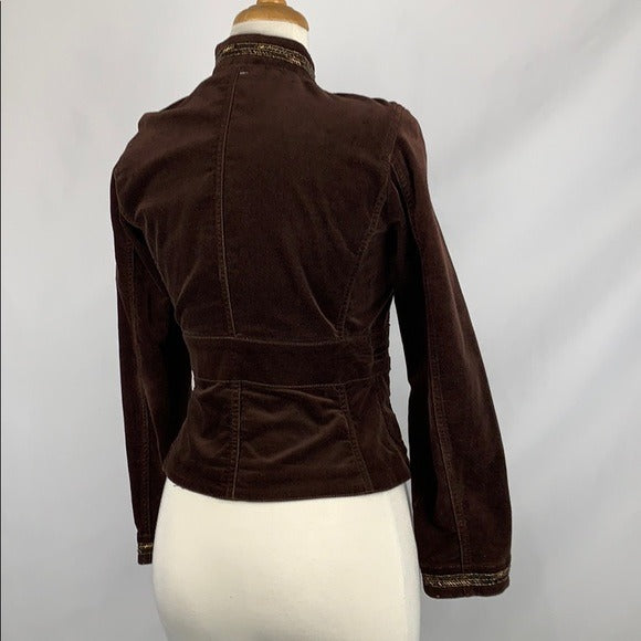 Context Brown with Gold Trim High Neck