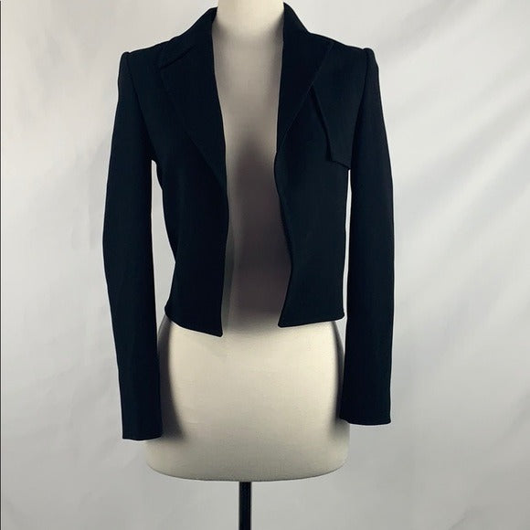 Judith and Charles Black Open Front Blazer