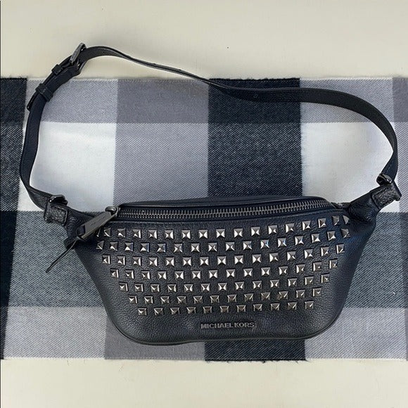 Michael Kors Black Studded Belt Bag