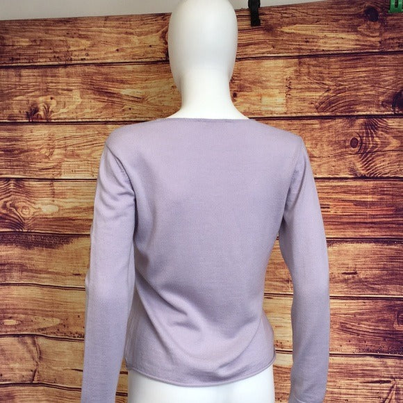 Prada Lilac Light Lavender Purple ButtonUp Sweater