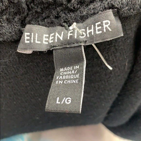 Eileen Fisher Black Textured Cropped Jacket