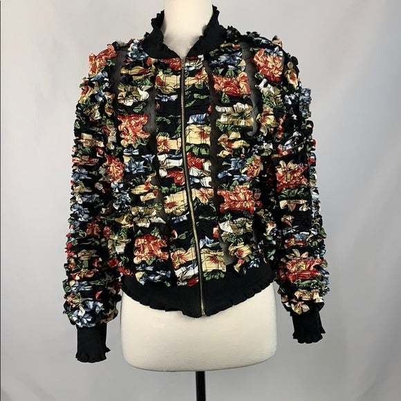 Gracia Multicut Print Ribbon Bomber