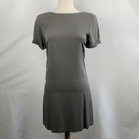 Theory Grey Silk Dress