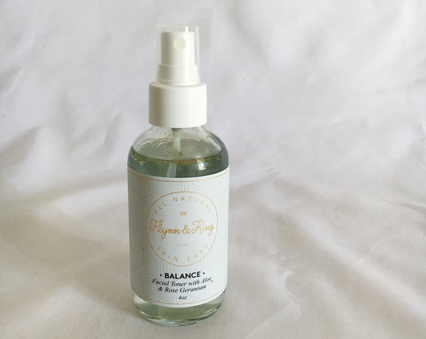Balance- Facial Toner with Aloe + Rose Geranium