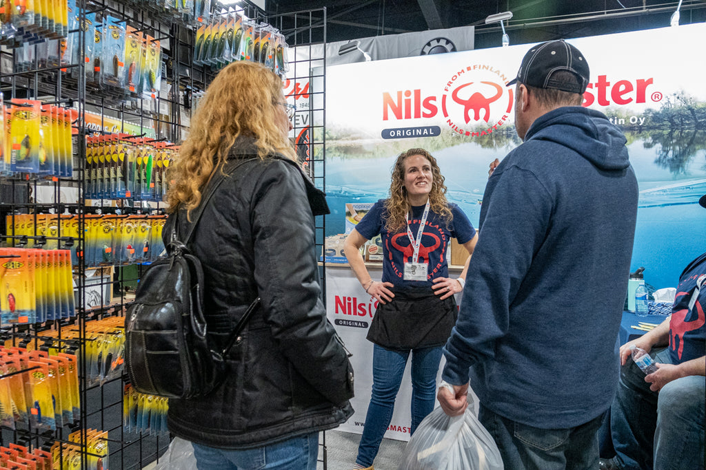 Nils Master fishing lures at the Spring Fishing & Boat Show Toronto 2020