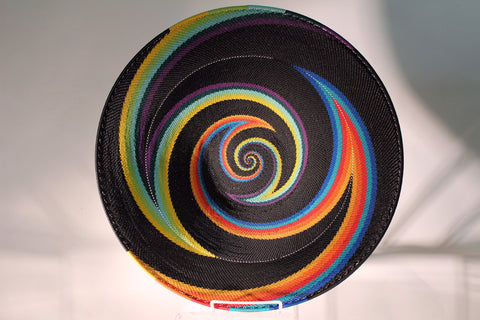 South Africa Telephone Wire Basket - African Rainbow Lg Platter
