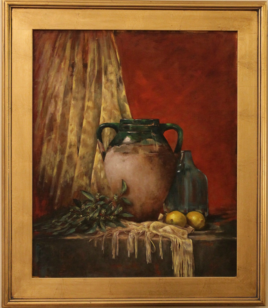 Greek Jug with Lemons Painting, Artist - Chantal O'Keeffe