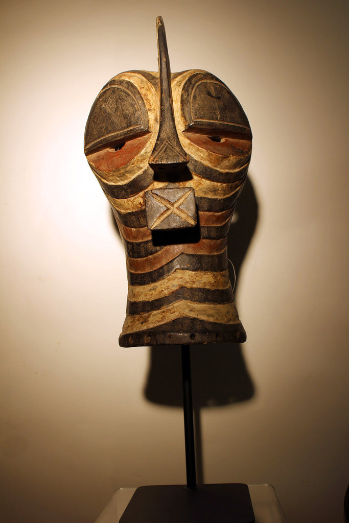 Kifwebe Mask from Congo with stand
