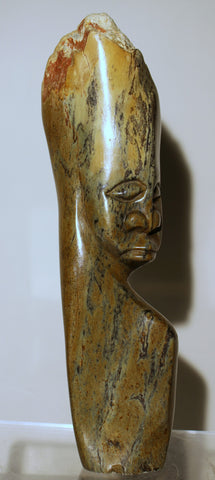 Lg Man Serpentine Shona Sculpture - Zimbabwe