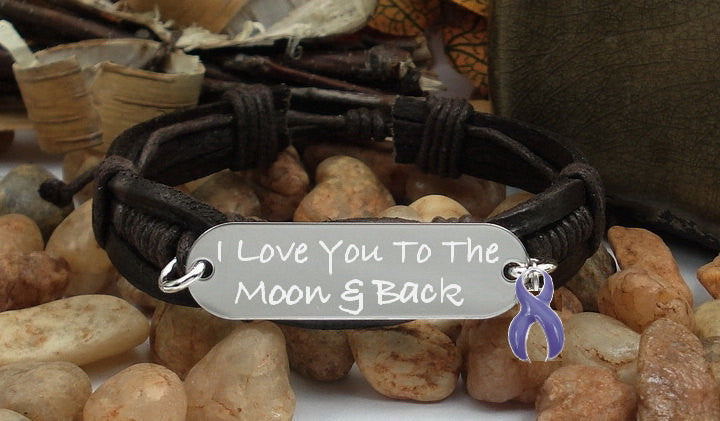 DP-1 Ulcerative Colitis Chiari Crohns Awareness I Love You To The Moon & Back Bracelet