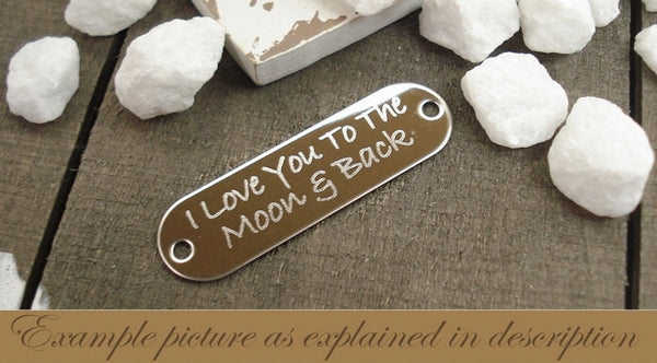 DB-1 Colon Cancer Awareness Child Abuse Jewelry I Love You To The Moon & Back Bracelet
