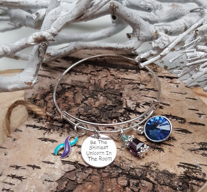 TP-4 Chiari Syringomyelia Domestic Violence Sexual Assault Unicorn Bracelet Awareness