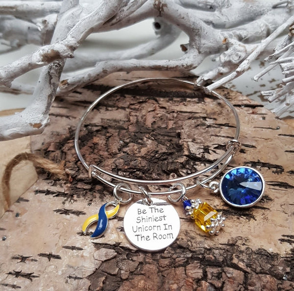 YB-4 Down Syndrome Unicorn Bracelet Awareness Jewelry