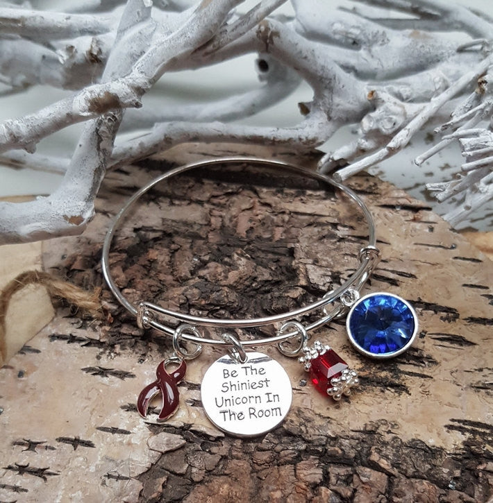 BU-1 Brain Aneurysm Multiple Myeloma Unicorn Bracelet Awareness Jewelry