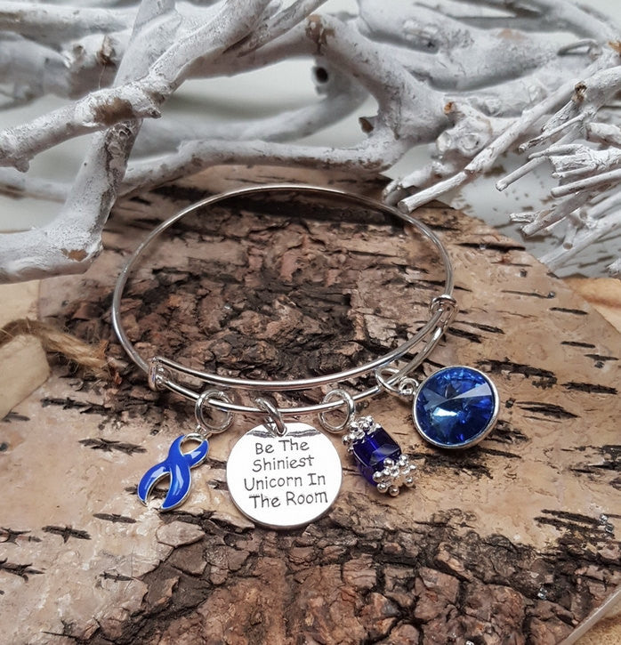 DB-1 Colon Cancer Alopecia Arthritis Unicorn Bracelet Awareness Jewelry
