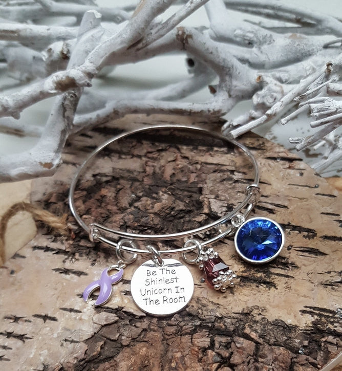 LP-1 Eating Disorder Awareness Epilepsy Unicorn Bracelet Awareness Jewelry