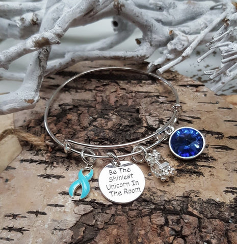 LB-1 Prostate Cancer Lymphedema Anorexia Unicorn Bracelet Awareness Jewelry