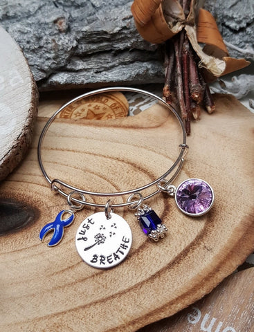 DB-1 Bully Awareness Child Abuse Child Depression Dandelion Bracelet Just Breathe Jewelry