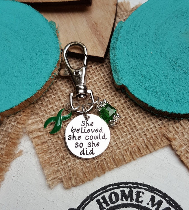 DG-3 Liver Cancer Liver Disease Liver Donor Awareness Keychain She Believed She Could So She Did