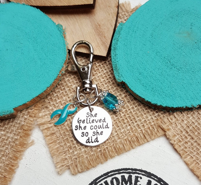 TE-3 Anxiety PTSD Sexual Awareness Keychain She Believed She Could So She Did